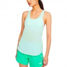 Nike Canotta Running Breathe Cool Verde Grigio Donna