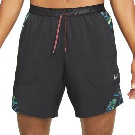 Nike Short Running 7in Flx Stride Nero Grigio Uomo