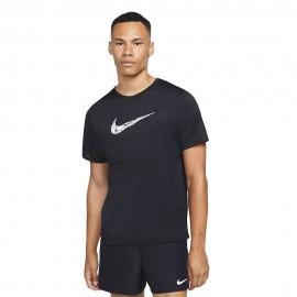 Nike Maglia Running Breathe Nero Bianco Uomo