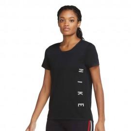Nike Maglia Running Dvn Miler Nero Grigio Donna