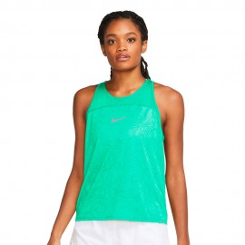 Nike Canotta Running Miler Verde Grigio Donna