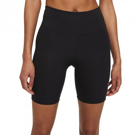 Nike Leggings Running Swoosh Black Reflective Argento Donna