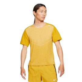 Nike Maglia Running Dvn Tecknit Ultra Giallo Bianco Uomo