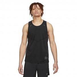 Nike Canotta Running Dvn Rise 365 Nero Uomo