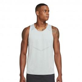 Nike Canotta Running Dvn Rise 365 Bianco Grigio Uomo