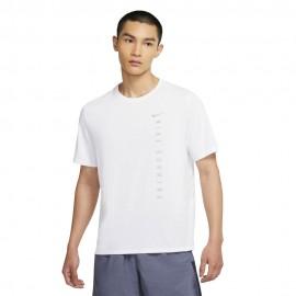 Nike Maglia Running Dvn Miler Hybrid Bianco Uomo