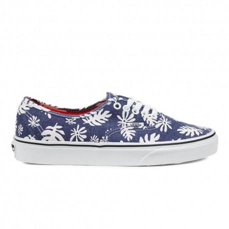 Vans Sneakers Authentic Canvas Palme Blu Donna