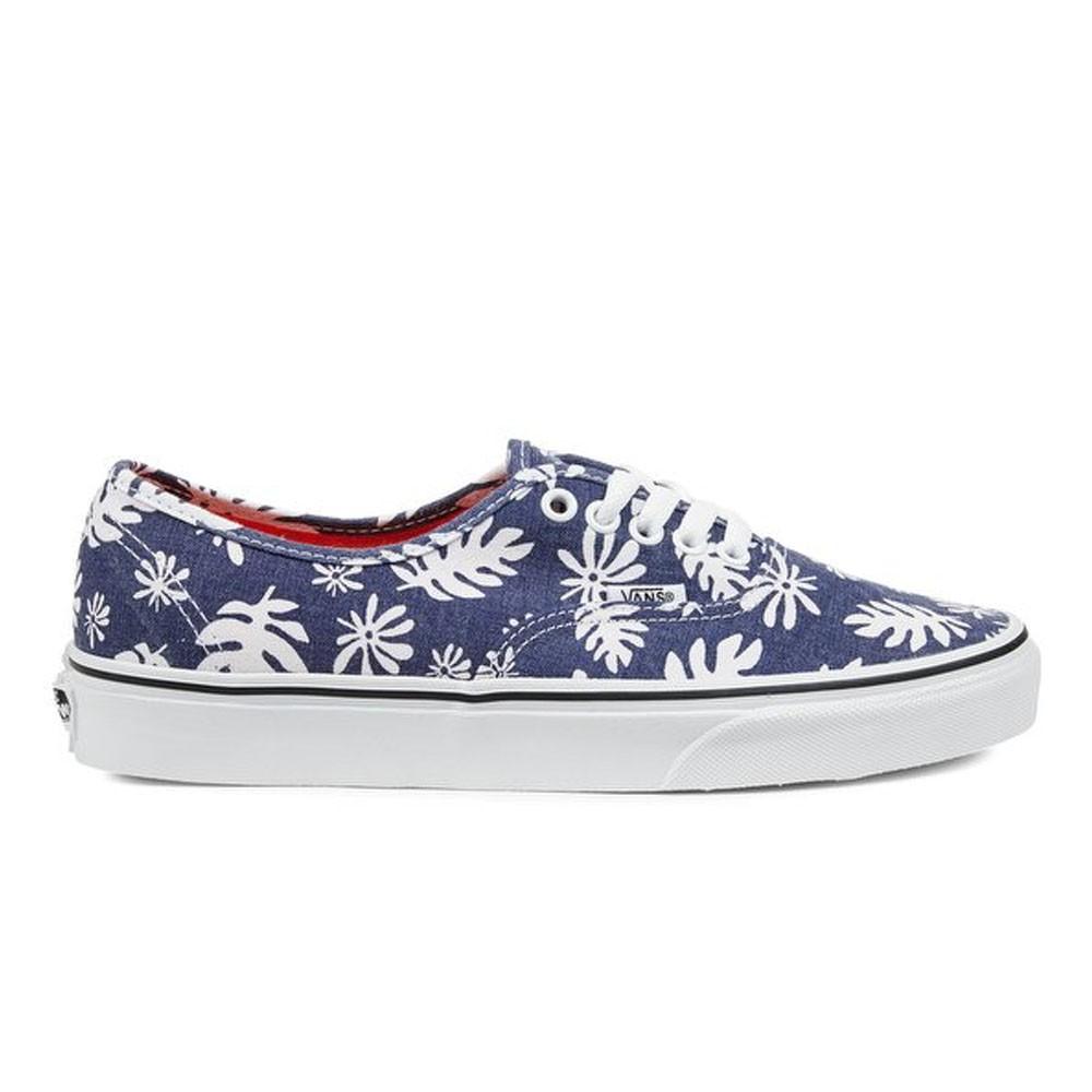Vans Sneakers Authentic Canvas Palme Blu Donna - Acquista online ...