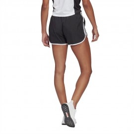 ADIDAS short running m20 nero bianco donna