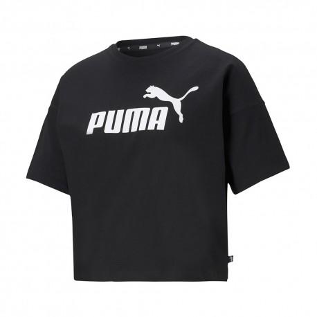 Puma T-Shirt Crop Nero Donna