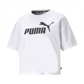 Puma T-Shirt Crop Bianco Donna