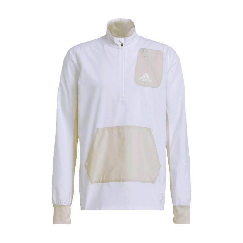 ADIDAS giacca running adapt primeblue bianco uomo