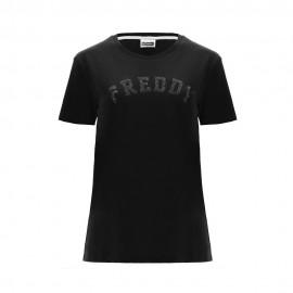 Freddy T-Shirt Logo Nero Donna