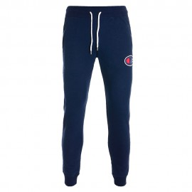 Champion Pantaloni Con Polsino C Logo Blu Uomo