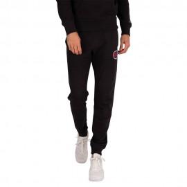 Champion Pantaloni Con Polsino C Logo Nero Uomo