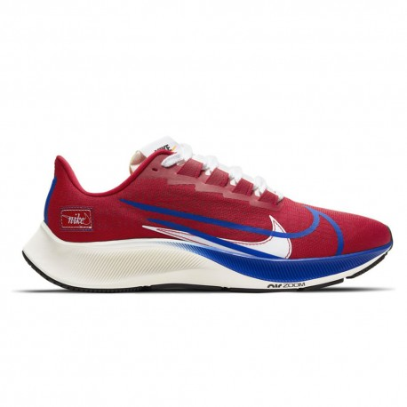 Nike Scarpe Running Air Zoom Pegasus 37 Premium Rosso Blu Uomo