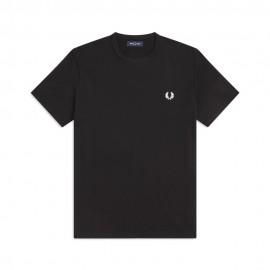 Fred Perry T-Shirt Girocollo Nero Uomo