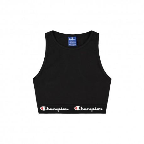 Champion Reggiseno Logo Nero Donna