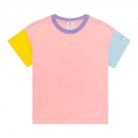 Champion T-Shirt Bicolore Rosa Donna