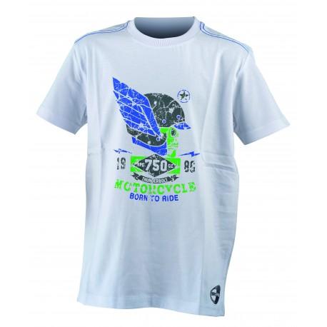 Get Fit T-Shirt Teschio Bianco Bambino