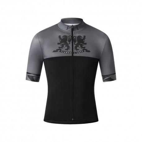 Flandres Love Maglia Ciclismo Lions Nero Uomo
