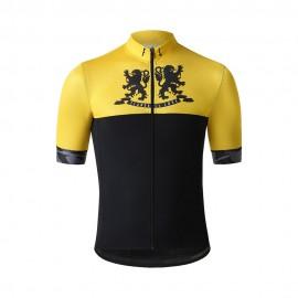 Flandres Love Maglia Ciclismo Lions Giallo Uomo