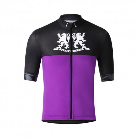 Flandres Love Maglia Ciclismo Lions Viola Uomo