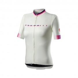 Castelli Maglia Ciclismo Gradient Bianco Donna