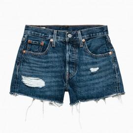 Levi's Shorts 501 Blu scuro Donna