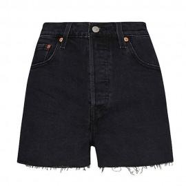 Levi's Shorts 501 Vita Alta Nero Donna