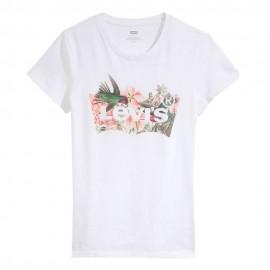 Levi's T-Shirt Logo Fiore Bianco Donna