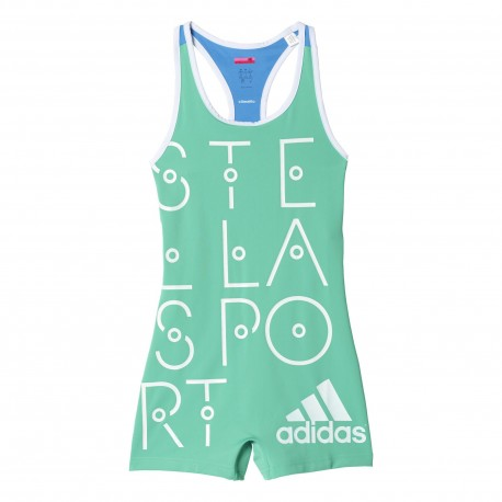 Adidas Tuta Short Stella Bright Green Donna