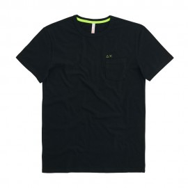Sun 68 T-Shirt Con Taschino Nero Uomo