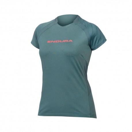 Endura T-Shirt MTB Singletrack Verde Donna