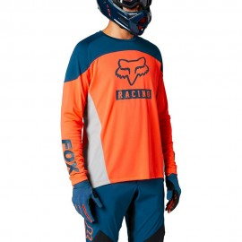 Fox Maglia MTB Defend Arancio Blu Uomo