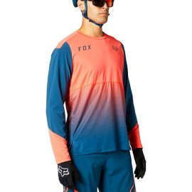 Fox Maglia MTB Flexair Arancio Blu Uomo