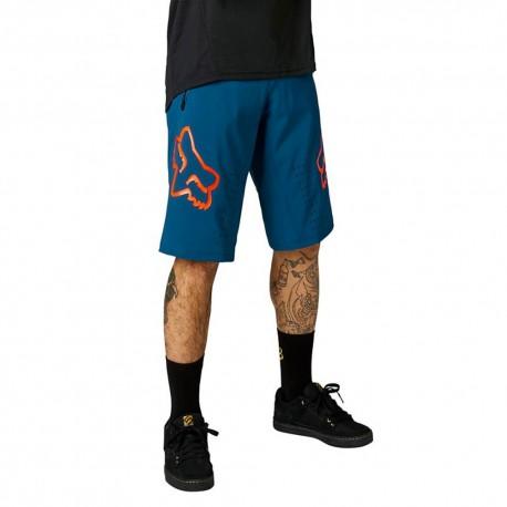 Fox Pantaloncini MTB Defend Blu Uomo