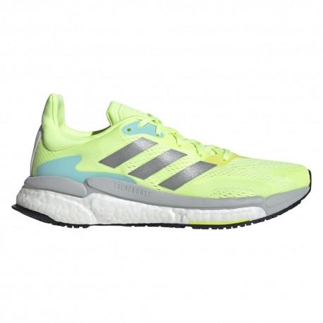 Adidas Scarpe Running Solar Boost 21 Grigio Verde Lime Donna