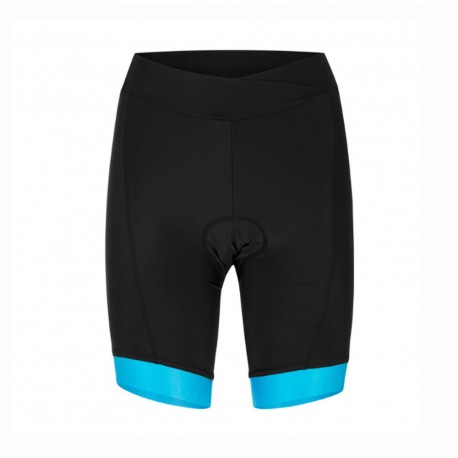 Hot Stuff Pantaloncini MTB Race Nero Azzurro Fluo Donna