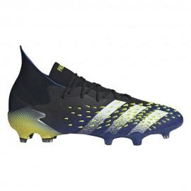 ADIDAS scarpe da calcio predator freak.1 fg nero blu uomo