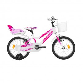 "Atala City Bike Teddy 16"" Bianco Fucsia Bambina"