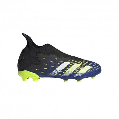 ADIDAS scarpe da calcio predator freak.3 ll fg nero blu bambino