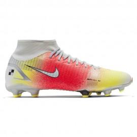 Nike Scarpe Da Calcio Superfly 8 Acdm Mds Fg/Mg Bianco Rosso Uomo