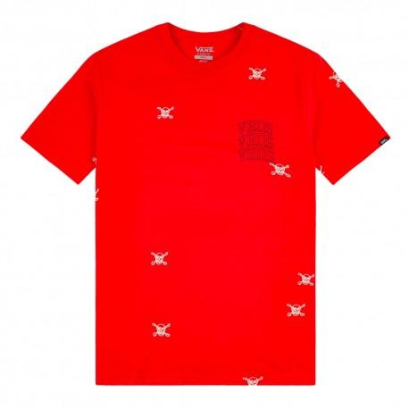 Vans T-Shirt Girocollo Rosso Uomo