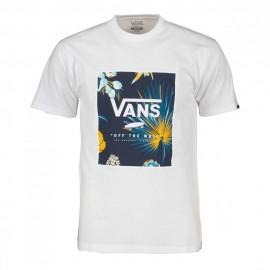 Vans T-Shirt Logo Print Bianco Uomo