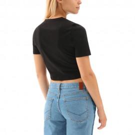 Vans T-Shirt Crop Nero Donna