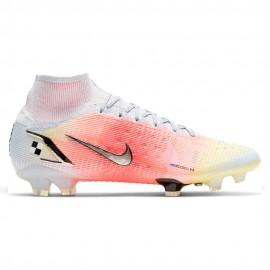 Nike Scarpe Da Calcio Superfly 8 Elite Mds Fg Bianco Argento Uomo
