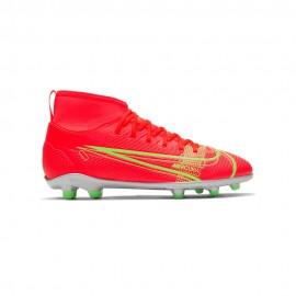 Nike Scarpe Da Calcio Superfly 8 Club Fg/Mg Rosso Verde Bambino