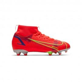 Nike Scarpe Da Calcio Superfly 8 Acdm Fg/Mg Rosso Verde Bambino