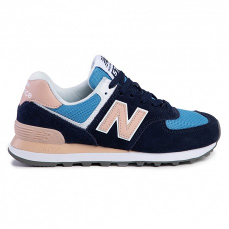 New Balance Sneakers Nb 574 Blu Rosa Donna